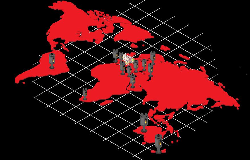 le réseau france et international -carte-